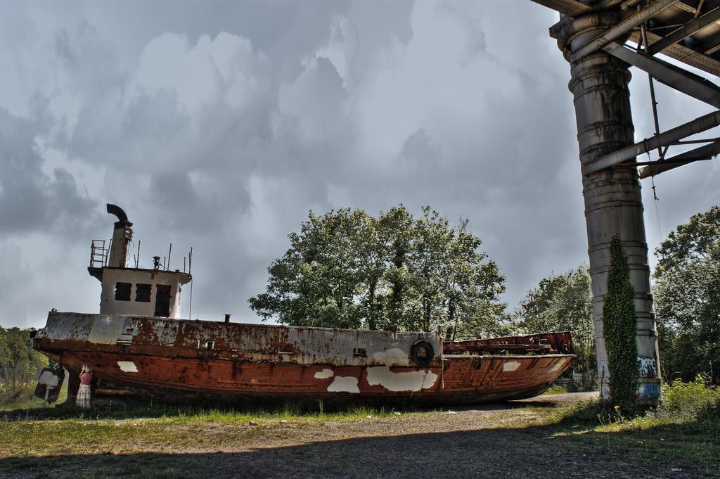 The old Aust ferry Severn Princess restoration boat