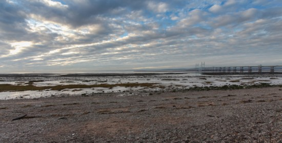 The wide expanse of the estuary at Severn Beach
